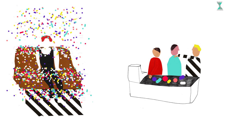 #307 de elfde van de maand gaat er een gigantisch confettikanon af in je huis -OF- in de rij voor de kassa moet je altijd een polonaise beginnen