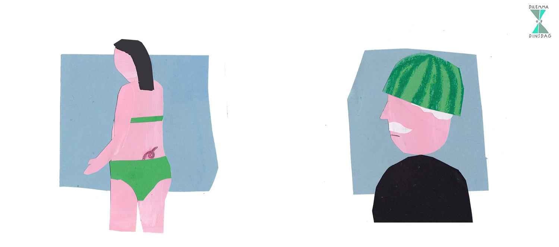 #272 elke keer als je maag knort, groeit het varkensstaartje boven je bilnaad een centimeter -OF- je draagt de hele dag een halve watermeloen als helm op je hoofd