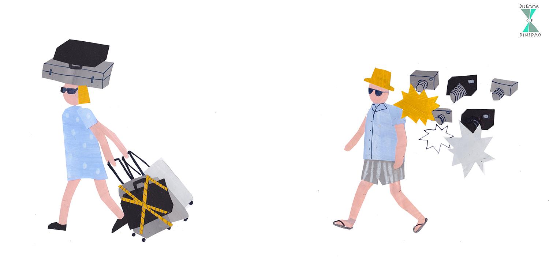 #287 je moet altijd met 6 loodzware koffers reizen -OF- je wordt je hele vakantie achtervolgd door paparazzi