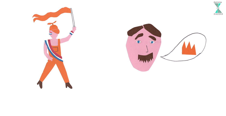 #315 je gaat altijd verkleed als Oranje fan -OF- je hebt de uitspraak en vocabulaire van prinses Beatrix