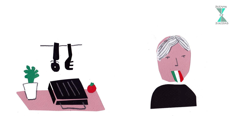 #344 je mag alleen nog maar pasta, pizza en panini eten -OF- je praat met een zwaar Italiaans accent