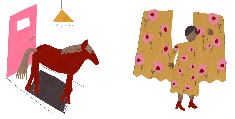 #252 er staat een paard in de gang – OF – je bent een bloemetjesgordijn