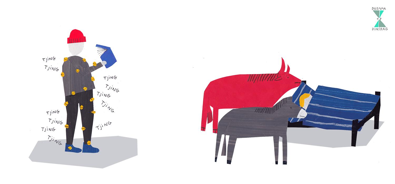 #246 je kleding hangt vol met rinkelende kerstbelletjes – OF – er staan altijd een ezel en een os naast je bed