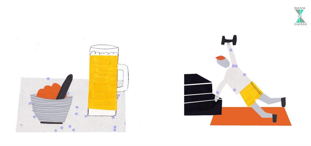#410 je moet elke ochtend een halve liter lauw bier drinken -OF- je moet elke ochtend bootcampen tussen 6 en 8