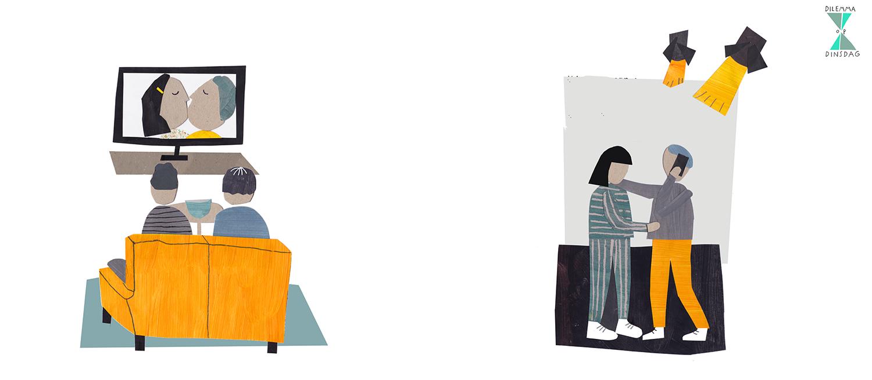 #404 als je uitgaat kijken je ouders mee via een livestream -OF- je moet je vader bellen om toestemming te vragen om met iemand te zoenen