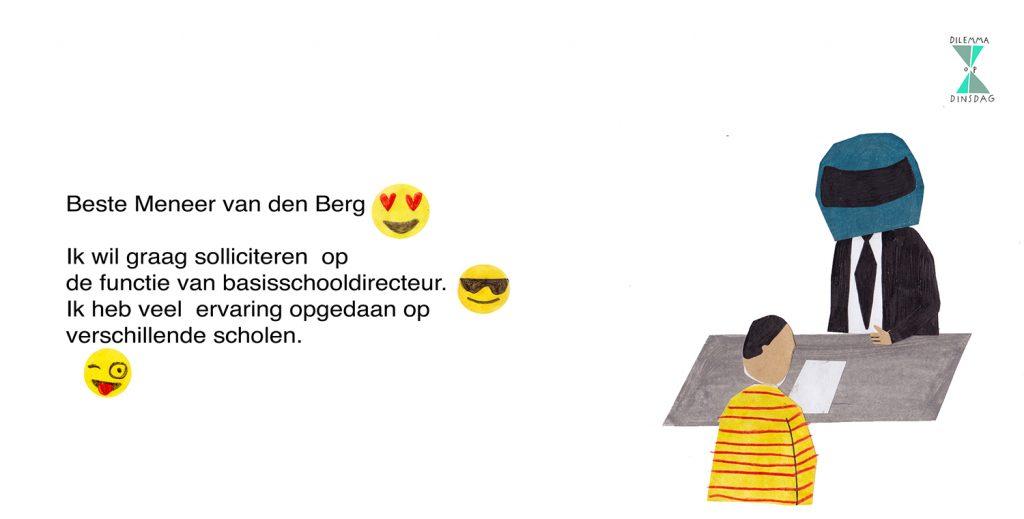 #406 je gebruikt minstens 84 emoji's in je sollicitatiebrief -OF- je draagt een motorhelm tijdens elk sollicitatiegesprek