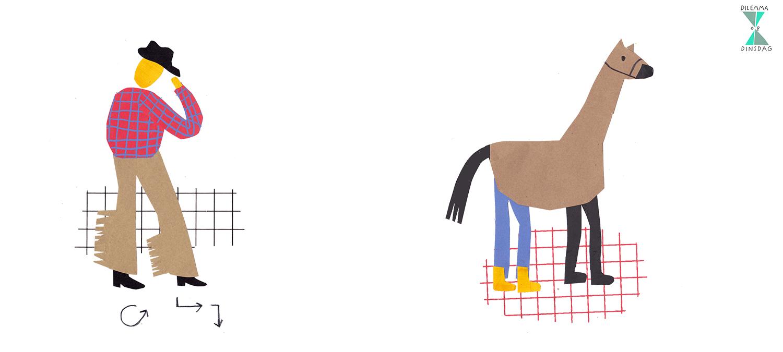 je moet 1 uur linedancen voordat je mag eten – OF – je moet een maand lang verkleed als paard undercover op een manege doorbrengen